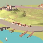 Sketchup rather than sketching this week. The beginnings of a town for the NPC's